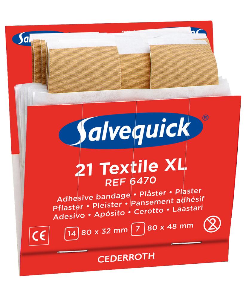 Salvequick iso kangaslaastari, 6 x 21 kpl