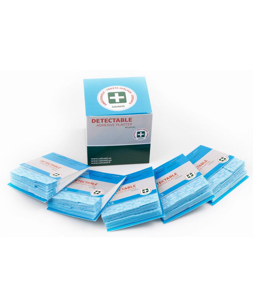 Sininen muovilaastari 5 x 40 kpl 1325