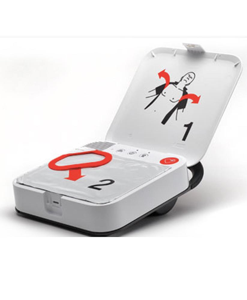 Lifepak CR2 defibrillaattori kansi avoinna